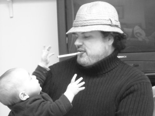 author with pen