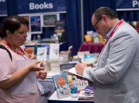 Discussing and signing Little Beasts at BookExpo America. May 28, 2015